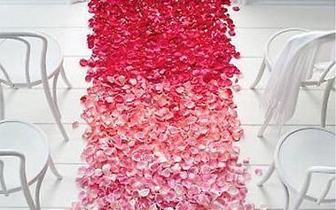 Sada 500 kusů dekorativních okvětních lístků - různé barvy
