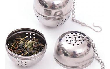 Kulaté sítko na čaj s řetízkem
