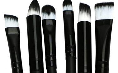 Kosmetické štětce na oční líčení - 6 ks