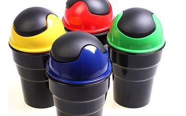 Mini odpadkový koš do auta - 4 barvy