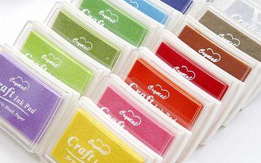 Houbička s barevným inkoustem pro razítkování - 8 barev