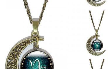 Vintage náhrdelník s přívěskem dle znamení zvěrokruhu