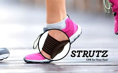 Speciální pásky s polštářky pro úlevu nohou