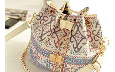 Módní vzorovaná plátěná taška přes rameno
