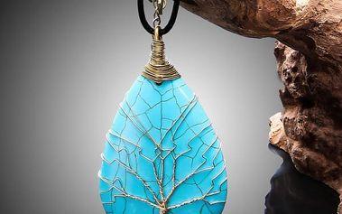 Dámský náhrdelník s tyrkysovým kamenem