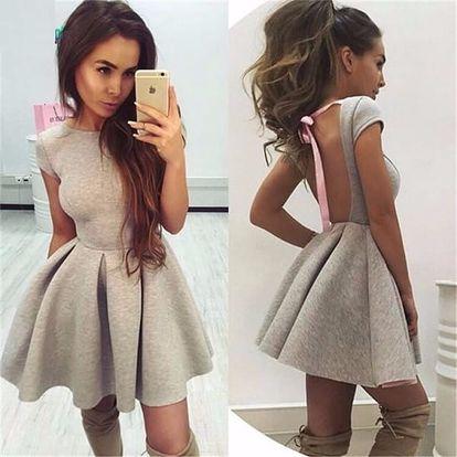 Letní šaty s volnými zády - 3 barvy