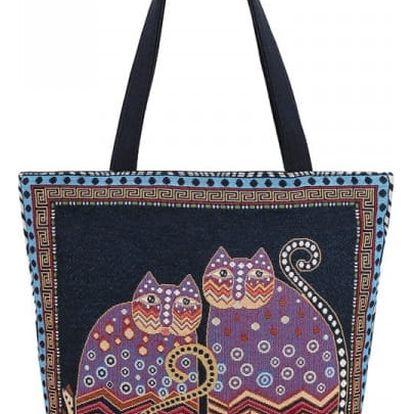 Dámská plátěná taška s kočičím motivem - více vzorů