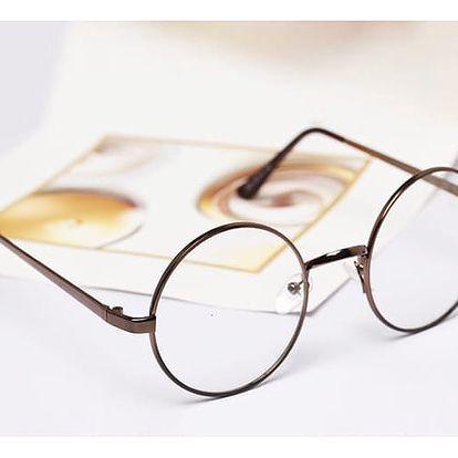 Nedioptrické kulaté unisex brýle