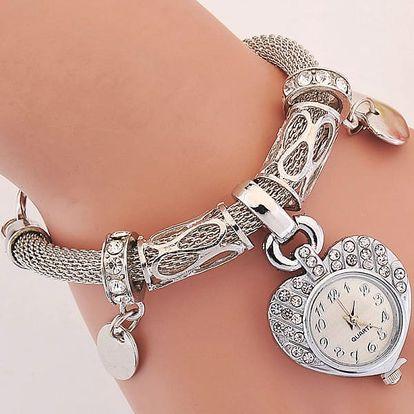 Dámský náramek s drobnými hodinkami - 2 barvy