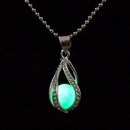 Dámský náhrdelník se svítící kuličkou - 3 barvy