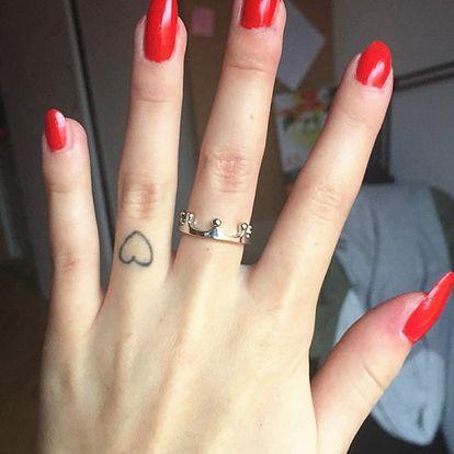 Prsten v podobě koruny - 2 barvy