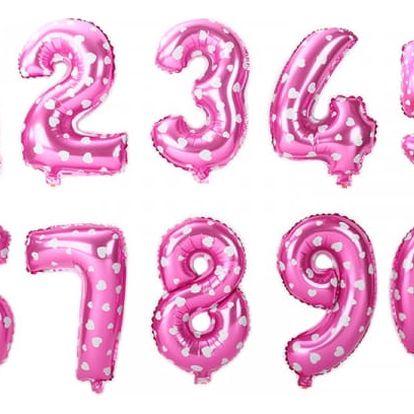 Nafukovací balónky ve tvaru čísla