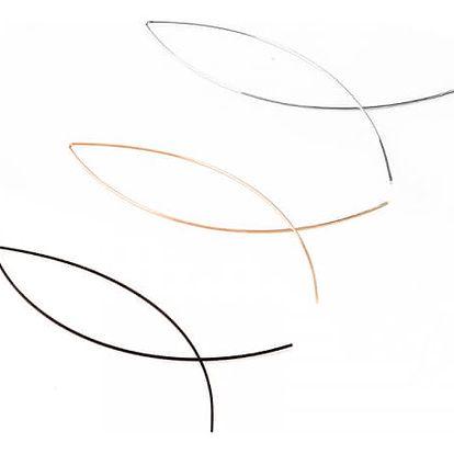 Jednoduché náušnice ve tvaru ryby