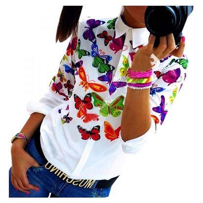 Dámská košile s motýlky
