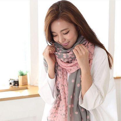 Krásný šátek s puntíky - 2 barvy