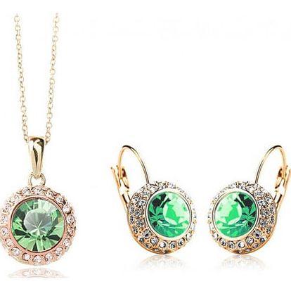 Šperková sada s barevnými kamínky - náhrdelník, náušnice