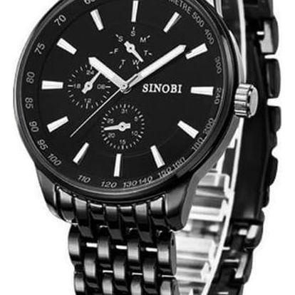 Elegantní pánské hodinky SINOBI s velkým ciferníkem (více druhů)