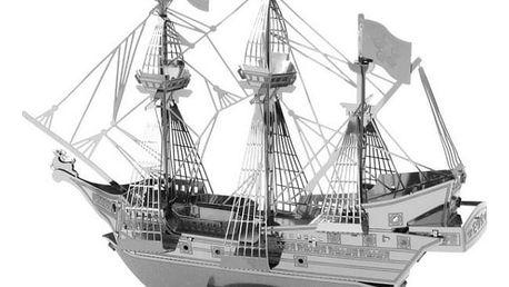 3D kovové puzzle - pirátská loď - dodání do 2 dnů