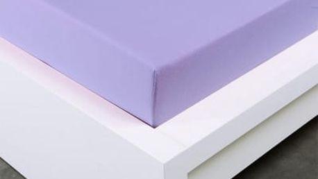 XPOSE ® Jersey prostěradlo dvoulůžko - fialová gramáž 150g/m 160x200 cm