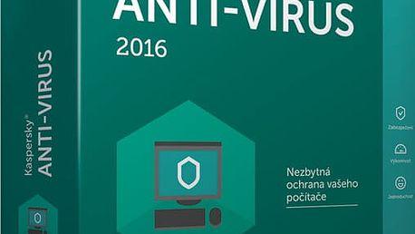 Kaspersky Anti-Virus 2017 CZ, 1 zařízení, 1 rok, obnovení licence - KL1171XCAFR