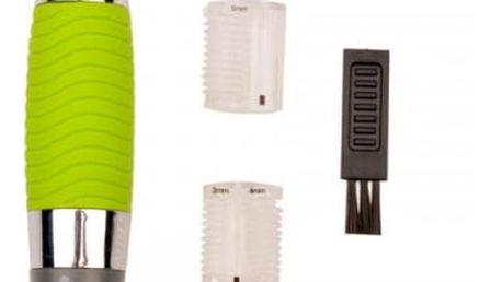 Pánský zastřihovač vousů v zelené barvě