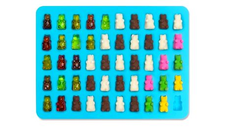 Formička na gumové medvídky s kapátkem - 6 barev