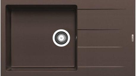 Athlos - Granitový dřez 86x50, 1B 1D plus, hnědá