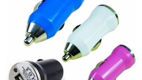 Mini USB autonabíječka ve 4 barvách