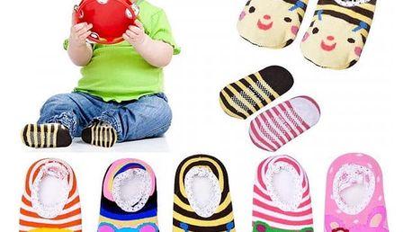 5 párů bačkůrek pro miminka