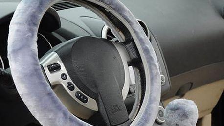 Univerzální plyšový potah na volant - 3 barvy
