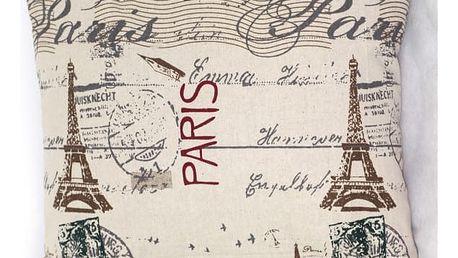Povlak na polštář s motivy Paříže - dodání do 2 dnů