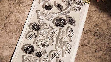 Plastová razítka pro umělecké tvoření - Přírodní motiv