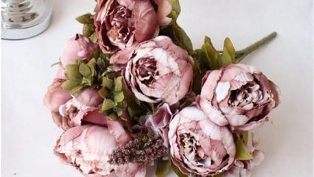 Kytice umělých květin - Pivoňky