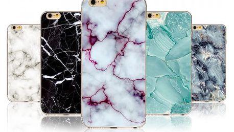 Kryt na iPhone s motivy mramoru (různé druhy)
