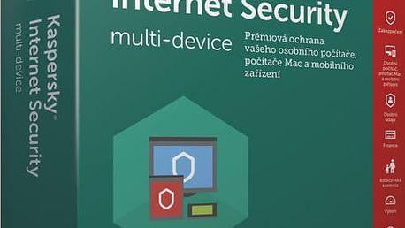 Kaspersky Internet-Security multi-device 2017 CZ pro 5 zařízení na 12 měsíců, obnovení licence - KL1941XCEFR