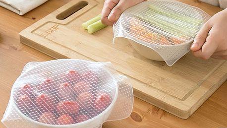 Silikonový obal pro zachování čerstvosti potravin - 4 kusy