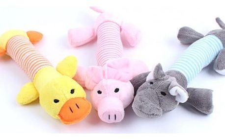 Roztomilá psí hračka vydávající zvuk - různé druhy