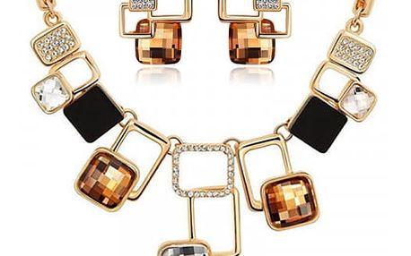 Originální sada šperků v zajímavém geometrickém provedení