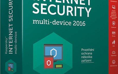Kaspersky Internet-Security multi-device 2017 CZ pro 5 zařízení na 24 měsíců, nová licence - KL1941XCEDS