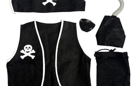 Maska na maškarní - pirát, sada 5 kusů