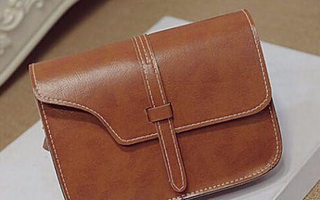 Retro kožená crossbody kabelka
