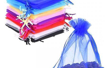 Sada barevných sáčků z organzy - 50 kusů