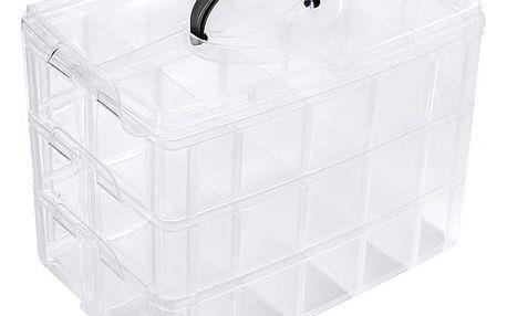 Univerzální průhledný úložný box s 30 přihrádkami
