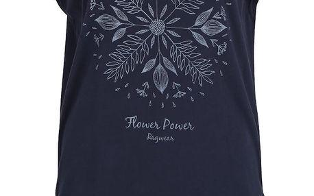 Tmavě modré delší bavlněné dámské tričko Ragwear Coffe Organic