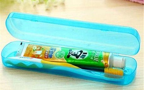 Plastová krabička na zubní kartáček a pastu - 5 barev