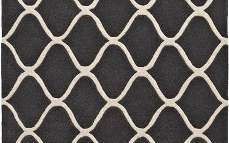 Šedý vlněný koberec Think Rugs Elements Grey, 120x170cm - doprava zdarma!