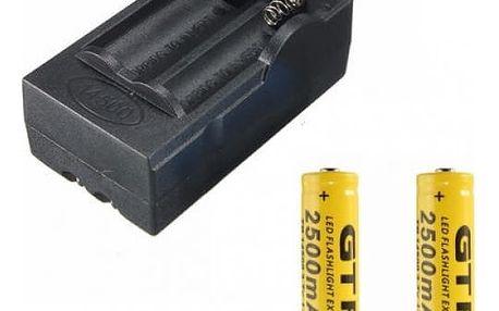 Inteligentní dual nabíječka s 2ks nabíjecích baterií