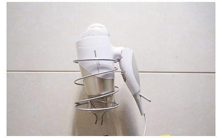 Kovový držák na fén do koupelny - dodání do 2 dnů