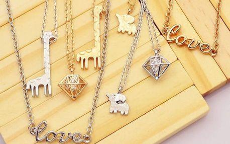 Módní náhrdelníky s originálními přívěsky