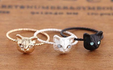 Dámský kočičí prsten - mix barev